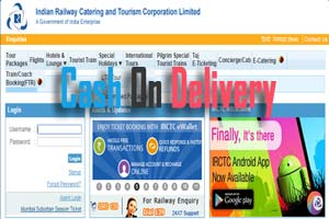 IRCTC Cash On Delivery (CoD)