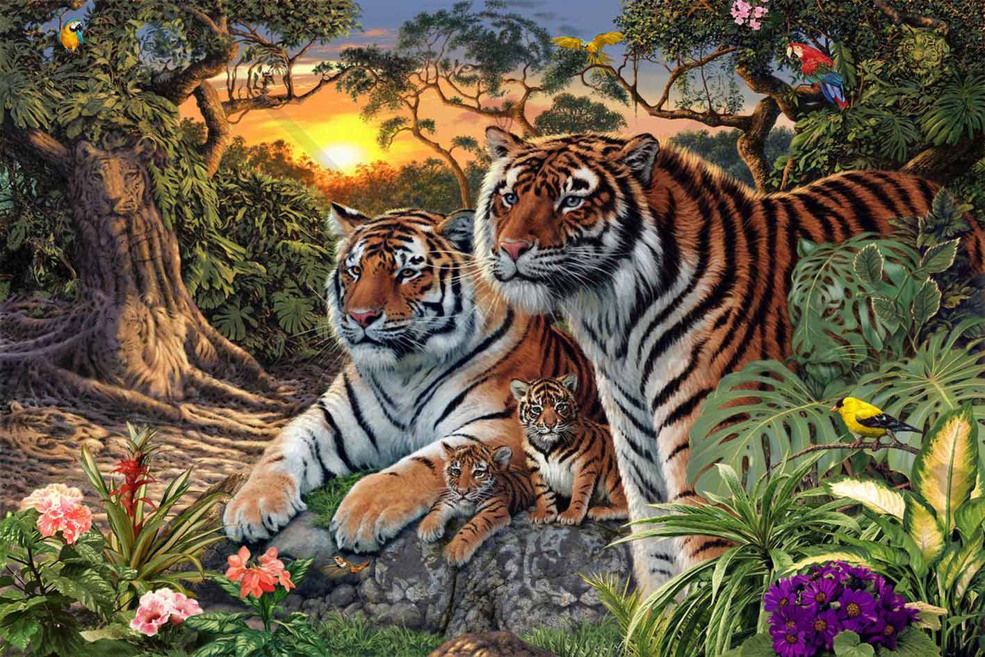 How Many Tigers Can You See In This Picture ?