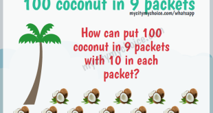 how can put 100 coconut in 9 packets