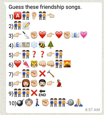 Guess these friendship songs