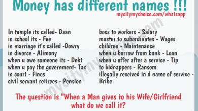 Money has different names !!!