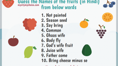 Guess the Names of the fruits (in Hindi) from below words