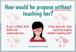How would he propose without touching her?