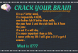 Crack Your Brain : What is X