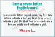 I am a 7 letter English word