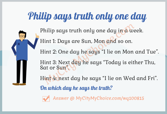Philip says truth only one day in a week.