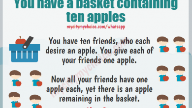You have a basket containing ten apples