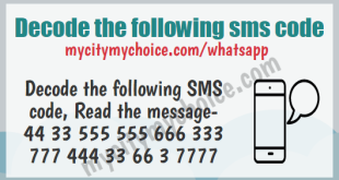 Decode the following sms code