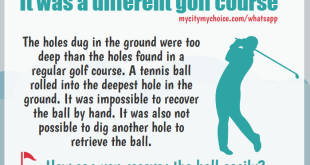 It was a different golf course