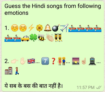 Guess the Hindi songs from following emotions