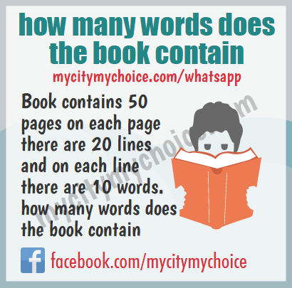 How many words does the book contain