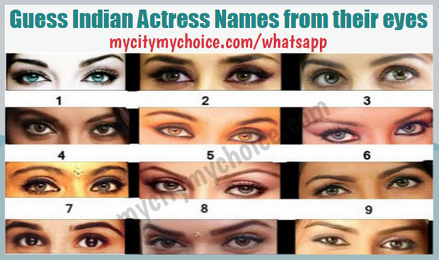 Guess Indian Actress Names from their eyes