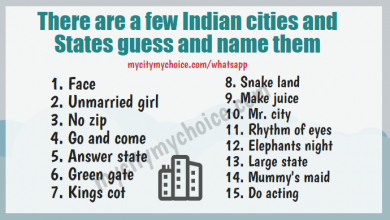 There are a few Indian cities and states guess and name them