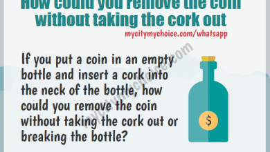 How could you remove the coin without taking the cork out