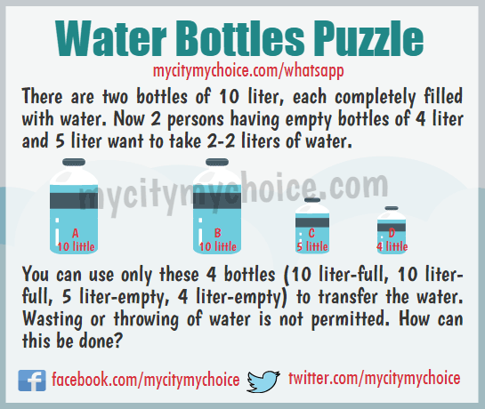 Water Bottles Puzzle