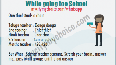 Ans plz : 6 Teacher While going too School One thief steals a chain Telugu teacher Donga donga Eng teacher Thief thief,