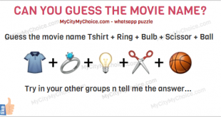 GUESS THE MOVIE NAME 👕+💍+💡+✂+ 🏀 Movie..name... Try in your other groups n tell me... You can also read it as : Guess the movie name Tshirt + Ring + Bulb + Scissor + Ball