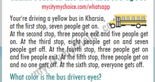 What color is the bus drivers eyes?