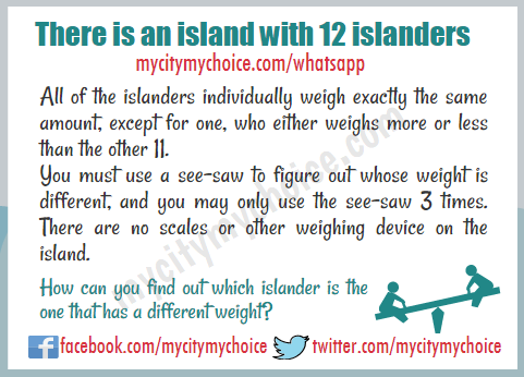 There is an island with 12 islanders