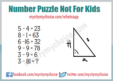 Number Puzzle Not For Kids