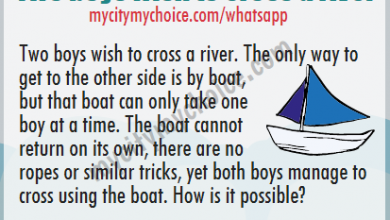 Two boys wish to cross a river. The only way to get to the other side is by boat, but that boat can only take one boy at a time. The boat cannot return on its own, there are no ropes or similar tricks, yet both boys manage to cross using the boat.