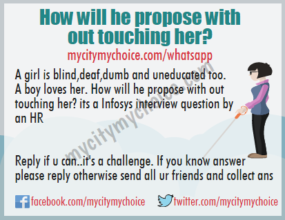 How will he propose with out touching her?