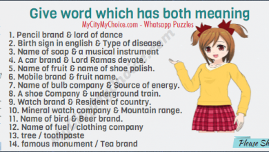 Give word which has both meaning 1. Pencil brand & lord of dance 2. Birth sign in english & Type of disease. 3. Name of soap & a musical instrument 4. A car brand & Lord Ramas devote. 5. Name of fruit & name of shoe polish. 6. Mobile brand & fruit name. 7. Name of bulb company & Source of energy. 8. A shoe Company & underground train. 9. Watch brand & Resident of country. 10. Mineral watch company & Mountain range. 11. Name of bird & Beer brand. 12. Name of fuel / clothing company 13. tree / toothpaste 14. famous monument / Tea brand