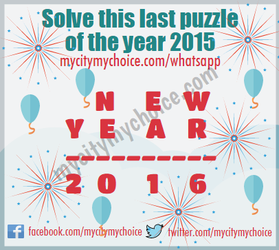 Solve this last puzzle of the year 2015 - Whatsapp Puzzle