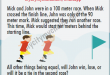 Mick and John were in a 100 meter race - Whatsapp Puzzle