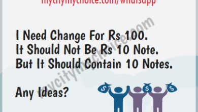 I Need Change For Rs 100 - Whatsapp Puzzle