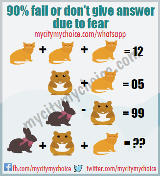 90% fail or don't give answer due to fear - Whatsapp Puzzle