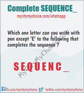 Complete SEQUENCE_ - Whatsapp Puzzle