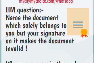 IIM Question: Name The Document - Whatsapp Puzzle