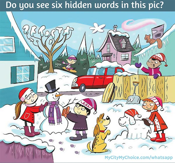 Do you see six hidden words in this pic? - Whatsapp Puzzles