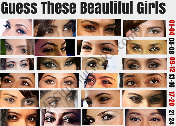 Guess These Beautiful Girls By Looking Into Their Eyes - Whatsapp Puzzle