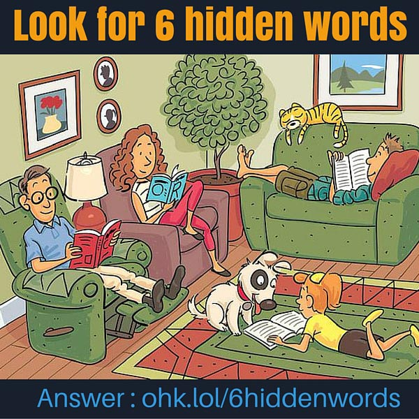 Look for 6 hidden words - Whatsapp Puzzle