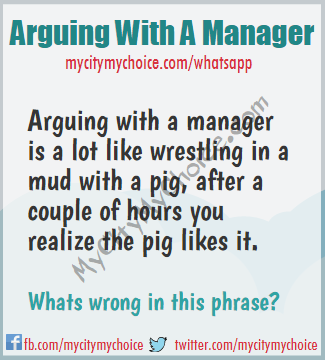 Arguing with a manager - Whatsapp Puzzle