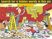 Search for 6 hidden words in this pic - Whatsapp Puzzle