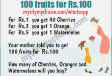 Your mother told you to get 100 fruits forRs.100 - Whatsapp Puzzle