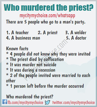 Who murdered the priest? - Whatsapp Puzzle