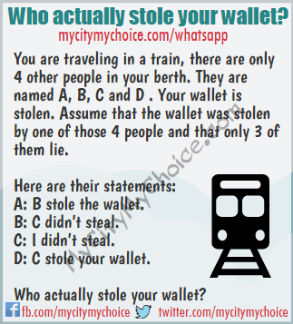 Who actually stole your wallet? - Whatsapp Puzzle