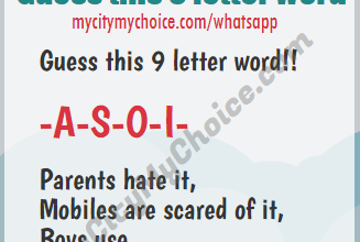 Parents hate it, Mobiles are scared of it, Boys use it, -a-s-o-i-