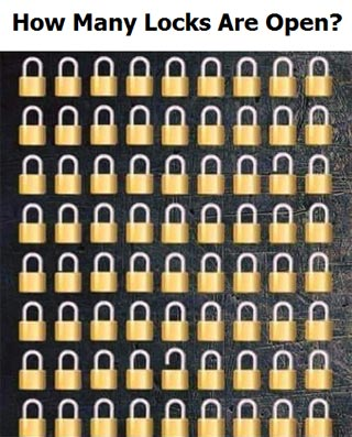 How Many Locks Are Open? Puzzle