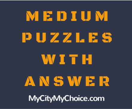 Medium Puzzle With Answer