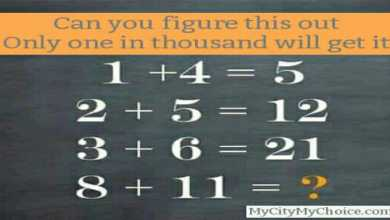 Can you figure this out….. Only one in thousand will get it. 1 + 4 = 5 2 + 5 = 12 3 + 6 = 21 8 + 11 =?