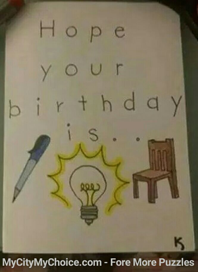 Hope Your Birthday is Pen + Bulb + Chair
