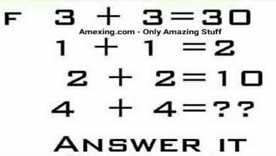 Answer it If 3 + 3 = 30 1 + 1 = 2 2 + 2 = 10 4 + 4 = ??