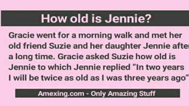 How old is Jennie? Puzzle answer