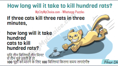 If three cats kill three rats in three minutes, how long will it take hundred cats to kill hundred rats?
