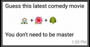 Guess this latest comedy movie 🏠 + 🌺 + 🌳 You don't need to be master